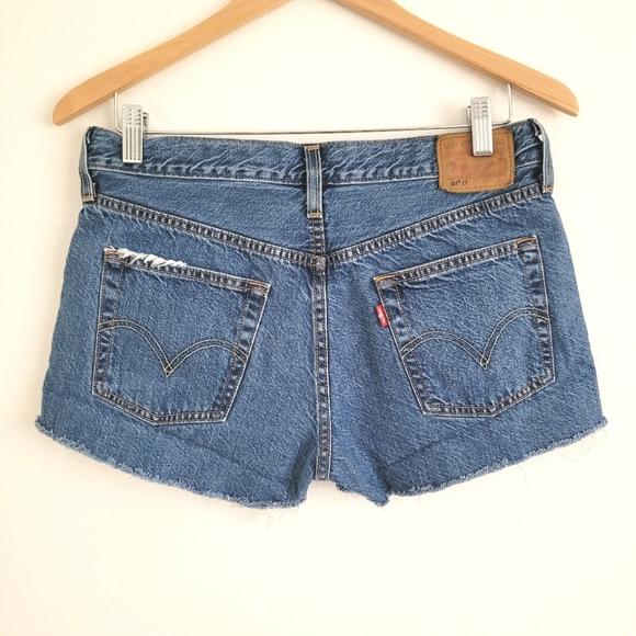 Levi's 501 CT cut off denim shorts sz S
